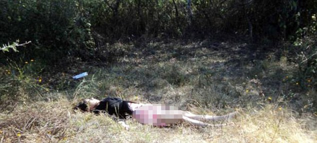 Murder: The corpse of Dr Gorrostieta, found by farm workers from San Juan Tararameo. She had been burned, beaten and stabbed