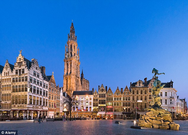 Picturesque: Antwerp, where the pair have lived since they married 19 years ago. The marriage is on the rocks after Jan discovered 'Monica' was born a man and had undergone a sex change operation