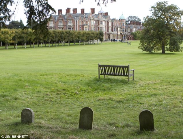 Pet cemetery: The graveyard lies in a secluded spot on the Sandringham estate in Norfolk