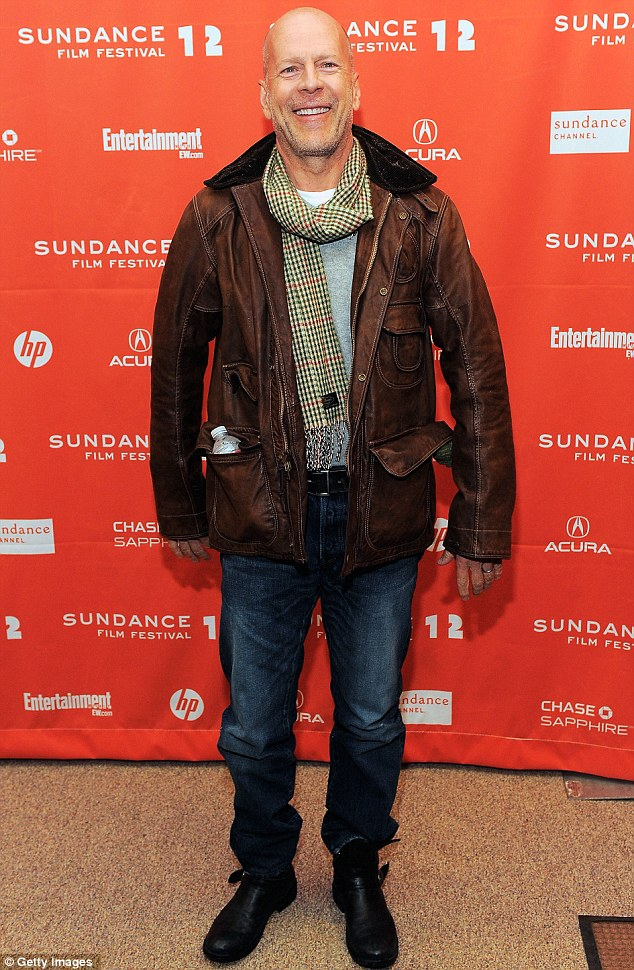 Award winner: Bruce Willis is also up for best supporting actor for his role in Moonrise Kingdom. Pictured at Lay the Favorite premiere at the 2012 Sundance Film Festival in Los Angeles