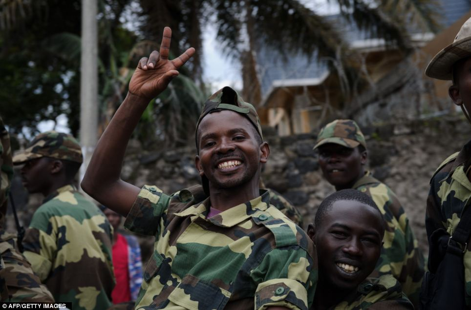 M23 rebels celebrate in the streets of Goma in the east of the Democratic Republic of the Congo in November this year after claiming control of the main town of Goma and its airport