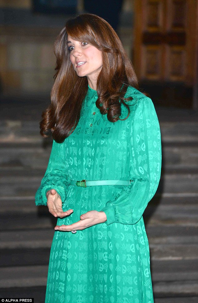 Strange face: Kate was caught mid-conversation at the glittering event