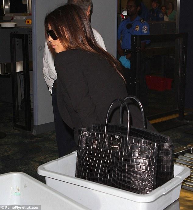 No preferential treatment: Kim got no preferential treatment as she made her way through security