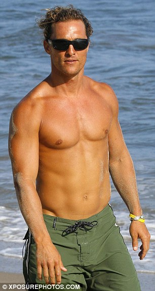 Transformation: Matthew has lost an astonishing 40lbs for the role, compared to his muscular physique back in 2007