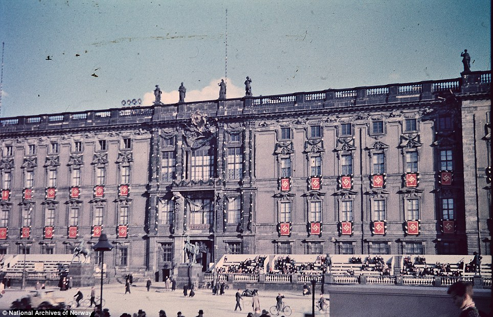 Regal: These rare color photos of Berlin in 1937 give a unique perspective of the capital's pre-war period. The Stadtschloss, or Berlin City Palace. It was heavily damaged during bombing and demolished by East German authorities after the war