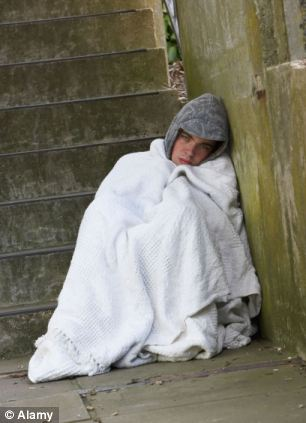 Concern: Brighton and Hove authorities recognise homelessness is a serious problem in the city. Some 43 rough sleepers were counted this month (file picture)