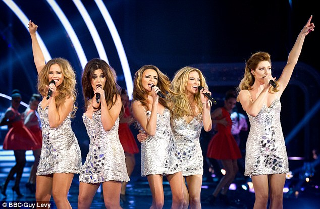 Comeback performance: The girls recently reunited again on stage for a special performance on Strictly Come Dancing