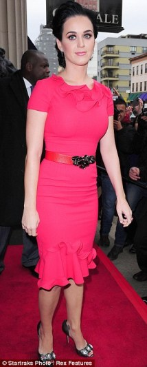 Pink perfection: Katy really couldn't have looked lovelier for the prestigious event