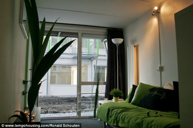 Comfortable: The shipping container homes will be a stop-gap for people without accommodation in Brighton