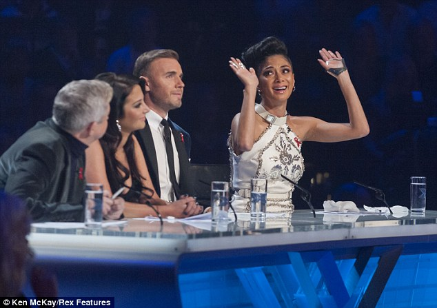 'I surrender!': Nicole was so overcome with emotion she struggled to speak and threw her hands in the air in awe of the young talent