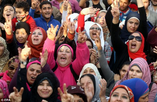 Danger: women protesting in Cairo's Tahrir Square face the increased danger of sexual assault by large gangs of men