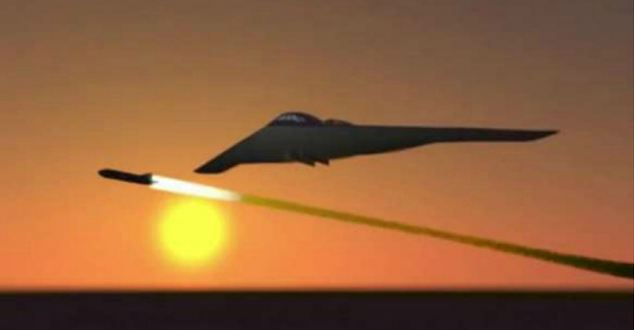 The missile is launched from a stealth bomber and is thought to be able to penetrate the bunkers and caves believe to be hiding Iran's suspected nuclear facilities