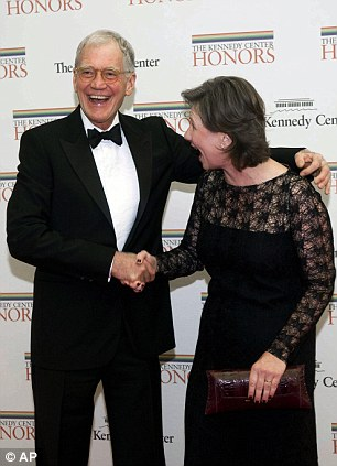 Thrilled: Honoree David Letterman and his wife Regina and Jummy Kimmel with Molly McNearney show off their other halves
