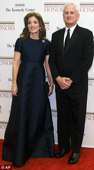 Star-studded: Caroline Kennedy and her husband Edwin Schlossberg as well as Meryl Streep and her other half Don Gummer were also in attendance
