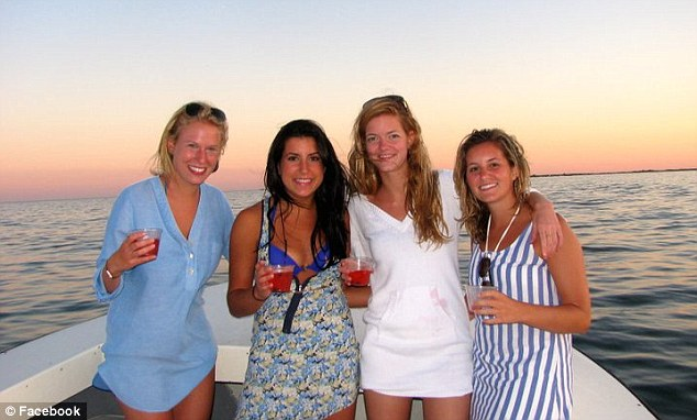 Tragedy: Schulman, left, who is from an upscale suburb of Washington, DC, spent her semester on a sailboat in the Caribbean