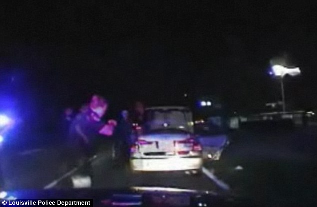 Saved: Police pulled over the vehicle for a routine traffic stop and heard thumping coming from the trunk