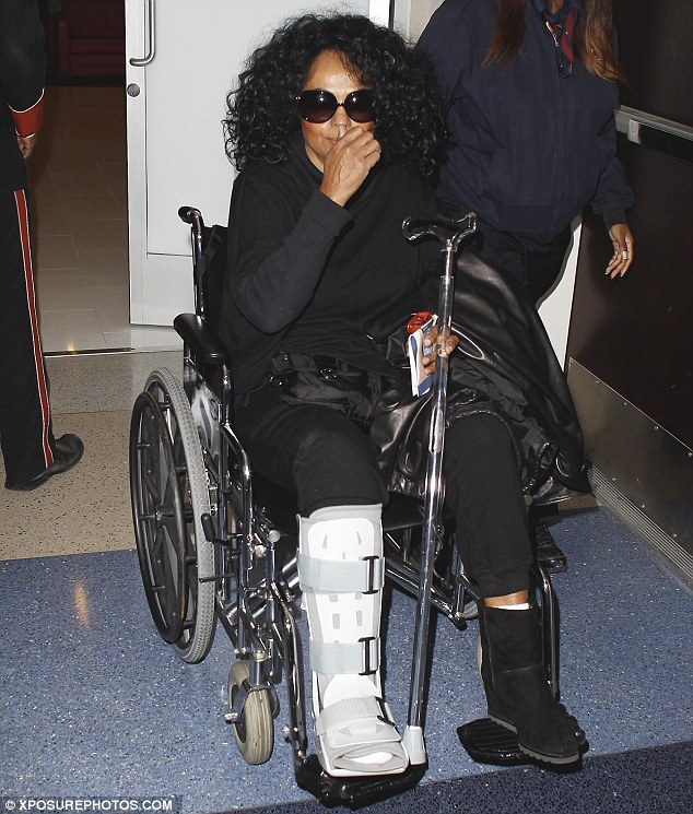 Looking great: Aside from the cast, Diana Ross looked fantastic as she was wheeled through LAX on Tuesday