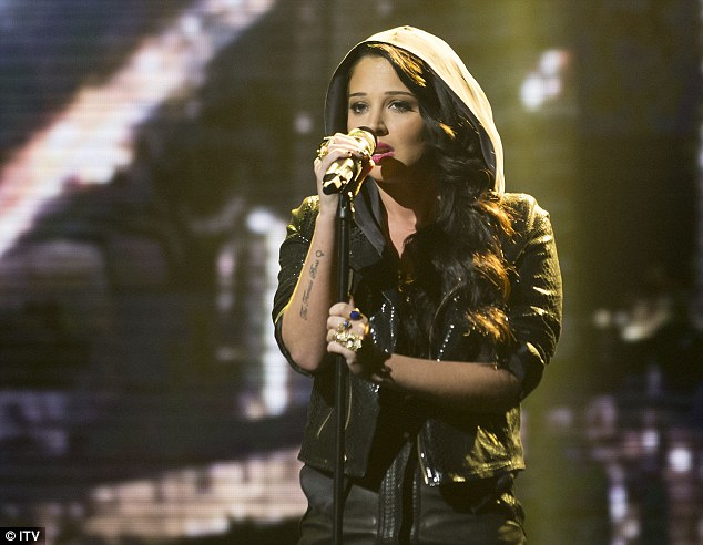Plan b: Tulis performed her new single on X Factor, but even that didn't help her secure a higher chart place