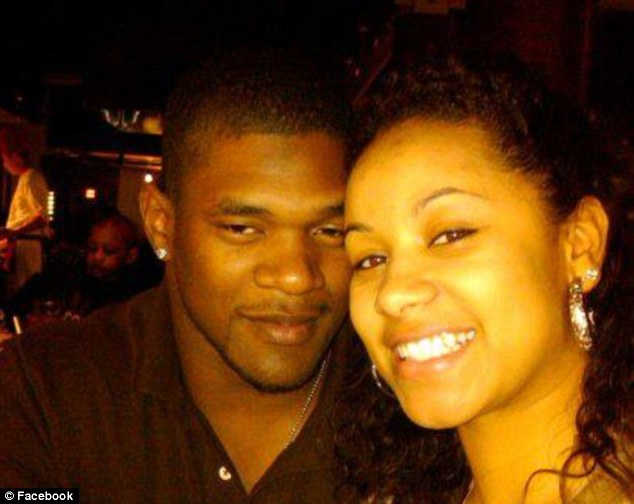 Tragic case: Belcher is pictured with his girlfriend and the mother of his child, Kasandra Perkins, whom he shot dead at his home on Saturday before killing himself