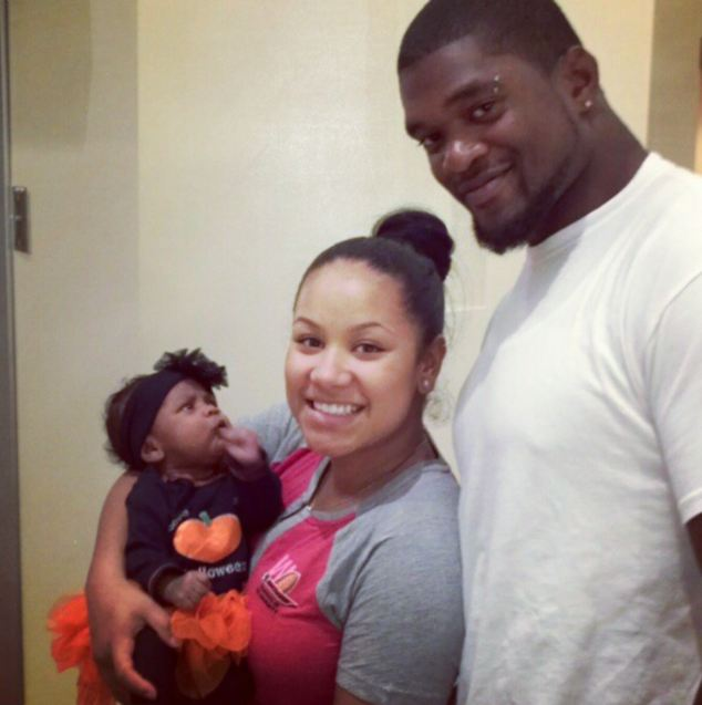 Happy family: Belcher killed his girlfriend before shooting himself at the Kansas City Chiefs' stadium