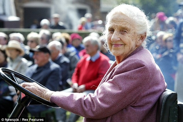 'The most wonderful mother': Dame Elisabeth Murdoch, pictured at a garden party at her home in Langwarrin, Victoria, six years ago, passed away peacefully in her sleep at the age of 103