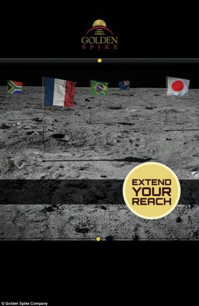 A promotional poster for the scheme, which aims to send a country into space for $1.5bn