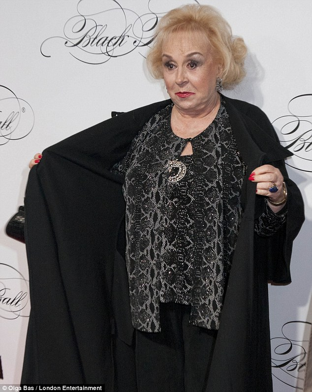 She's got front: Cheeky Everybody Loves Raymond star Doris Roberts hammed it up for the cameras