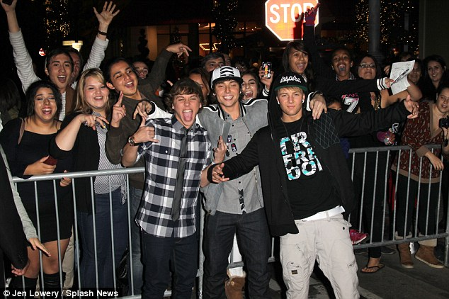 Meet the fans: Emblem3 at the X-Factor viewing Party