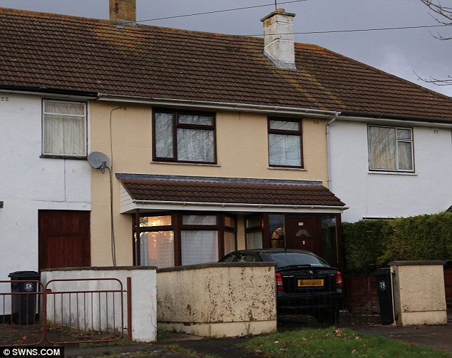Household: The Bristol home of Jacintha Saldanha today following news of her death