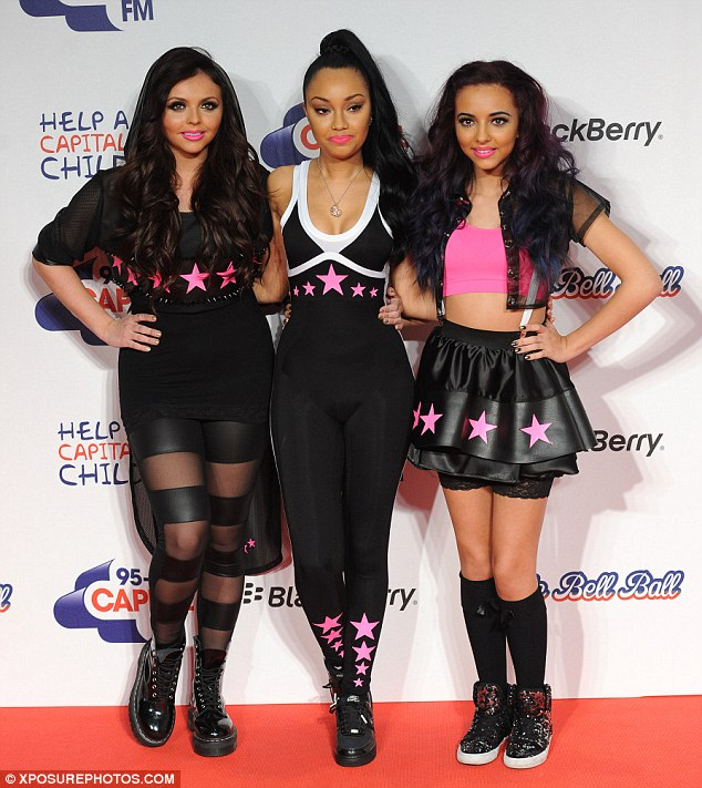 Little Mix, minus one: Jesy, Leigh-Anne and Jade attended the Ball, but Perrie wasn't well enough to make it