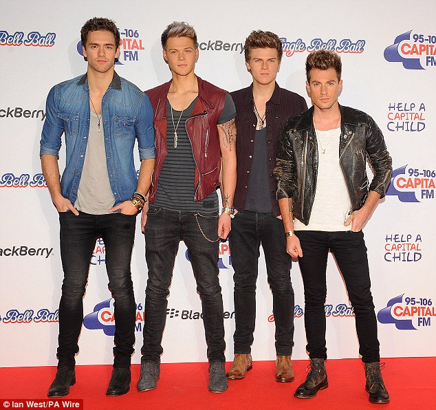 Giving it their best Blue Steels: The handsome members of Lawson also performed at the Capital FM concert