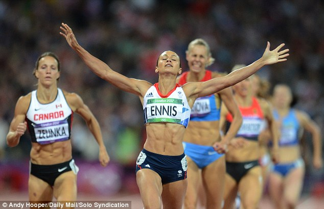 Champion: The British Future survey also found only 42 per cent of people could correctly identify Jessica Ennis (pictured winning gold in the London 2012 heptathlon in August) as mixed race