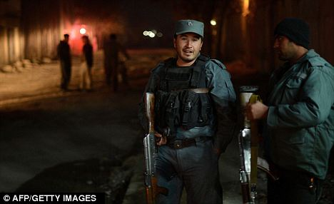 Raid: NATO ordered the raid when it learned Dr Joseph was in imminent danger. Afghan soldiers are pictured in Kabul