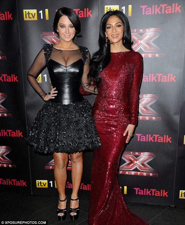 Looking immaculate: Both Tulisa and Nicole looked show ready ahead of Saturday's final