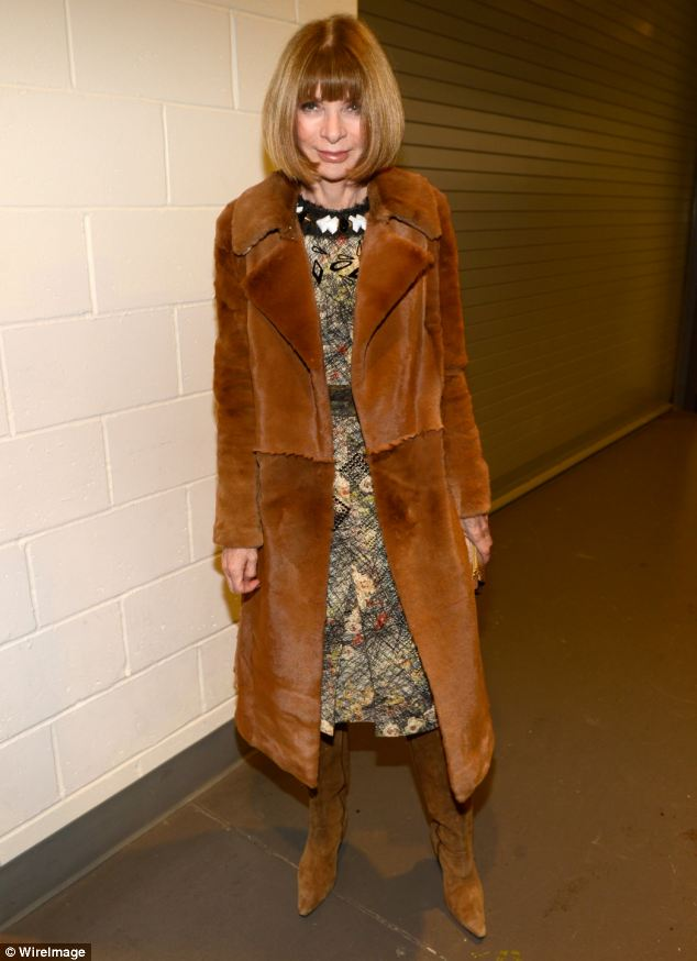 Icy fashion queen of New York City: Anna Wintour backstage at Barclays Center of Brooklyn on December 8, 2012 in New York City