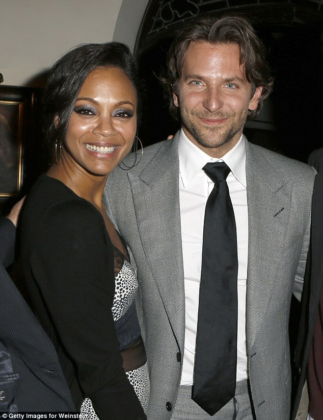 Classy combo: Bradley Cooper brought his gorgeous girlfriend Zoe Saldana to a party for his latest film Silver Linings Playbook at L.A.'s Chateau Marmont on Friday
