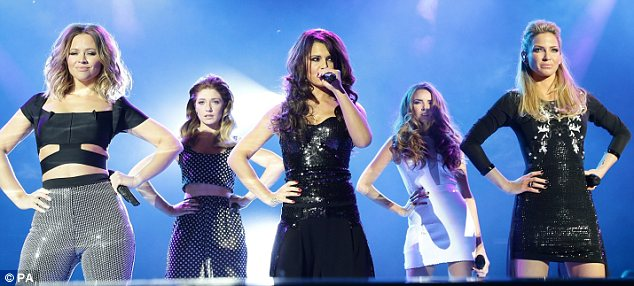 Hands on the hips: The girls looked amazing as they sang their hearts out