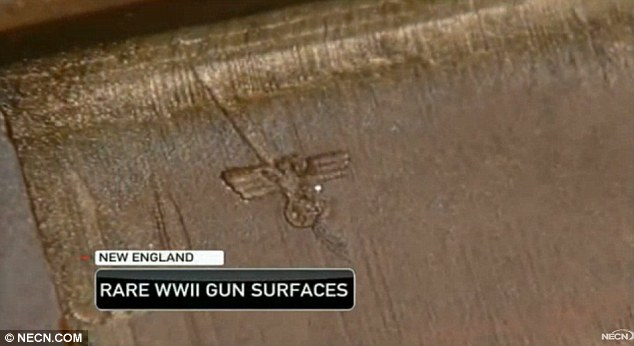 Remarkable discovery: The gun was brought to the U.S. by an American soldier, who would have taken it from a German he had killed or taken prisoner
