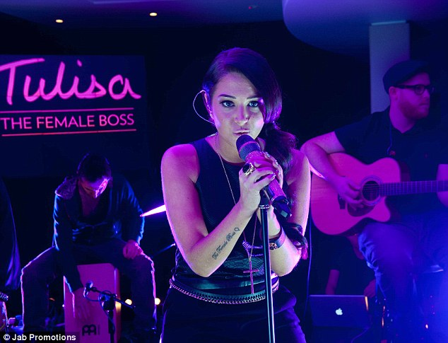 Back on the promo trail: Tulisa performs tracks from her new album on Monday night after poor record sales