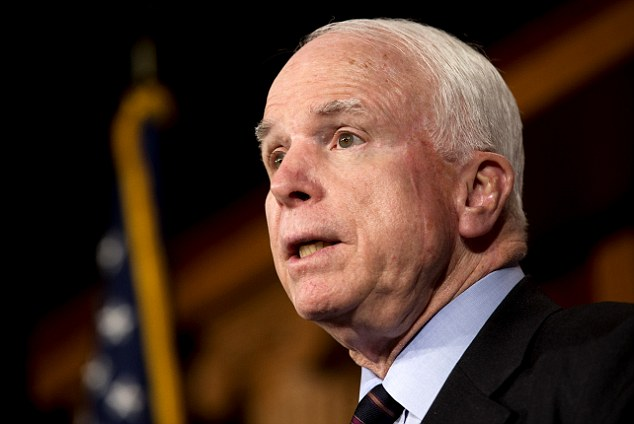 Senator John McCain - pictured here last Thursday - has said that he will now seek to join the Senate Foreign Relations Committee setting up an explosive battle over Susan Rice