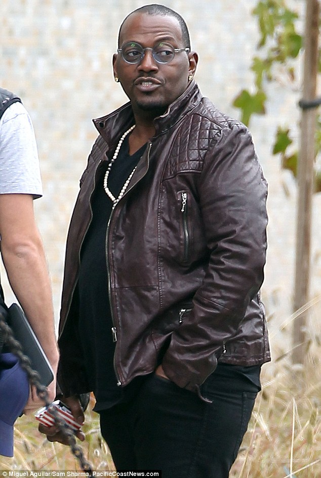 Staying out of it: Fellow American Idol judge Randy Jackson was also seen arriving for the taping