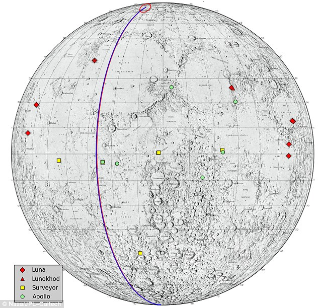 New moon: This locations on the moon that NASA considers 'lunar heritage sites' and the path GRAIL will take to avoid hitting any of them