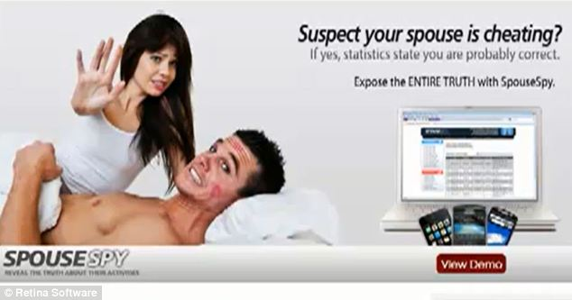 Cyberspy: Mobile phone apps such as SpouseSpy allow users to monitor their partner's whereabouts and mobile phone communications