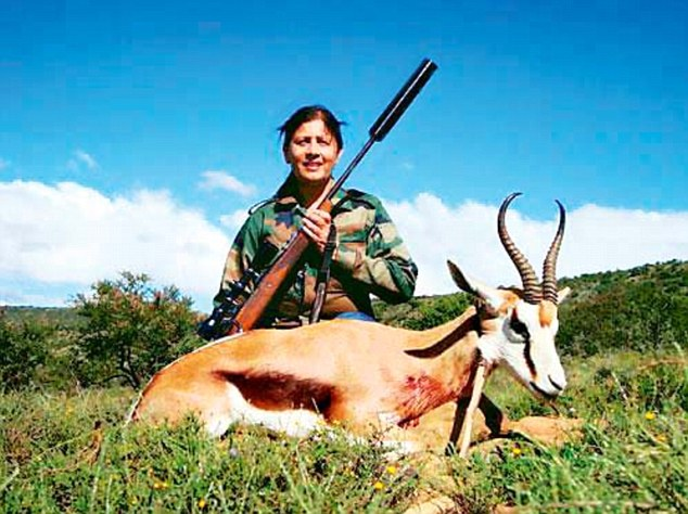 On a recent visit to South Africa, Maharashtra school education minister Fauzia Khan posed with animal carcasses, holding a rifle, though she insists she didn't kill any