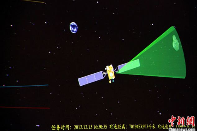 Here is a graphic showing the moment the spacecraft passed within two miles of the asteroid Toutatis