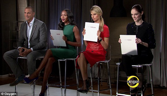 Tough judge? Naomi Campbell is reportedly not having it with her 'The Face' co-stars Coco Rocha and Karolina Kurkova