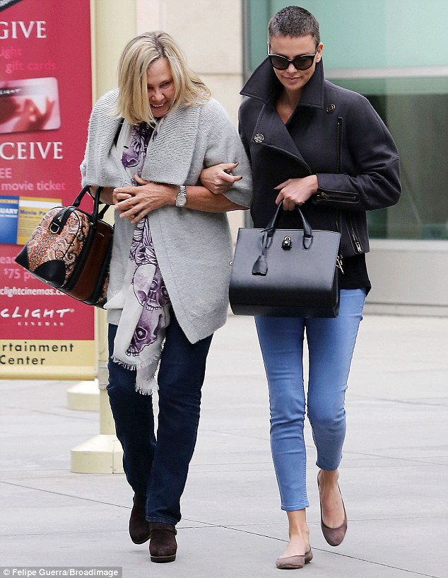 Arm-in-arm: The mother daughter pair share a very tight bond