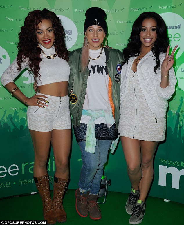 Practical: Stooshe opted to wear flat shoes on stage so they could really give it their all