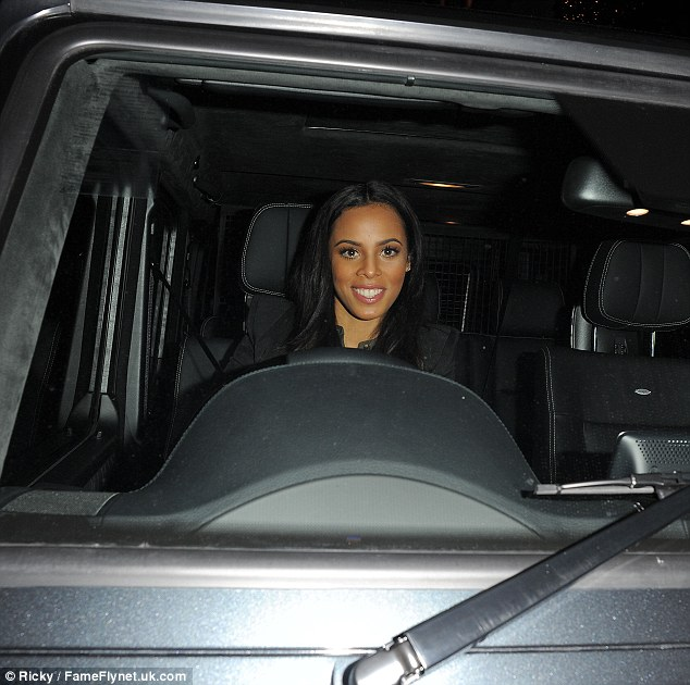 And she's off! Rochelle hopped in her Mercedes 4x4 as she journeyed onto her next location