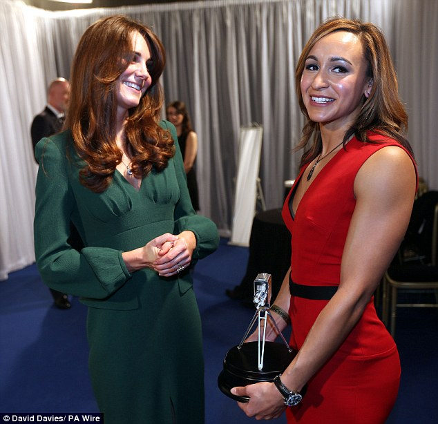 Making friends: She seemed to hit it off with Kate as she made it another night to remember